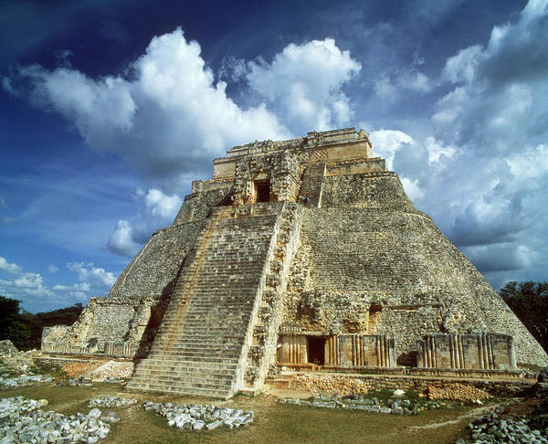 Wall Art - Photograph - 1990s Ruins Of Mayan Pyramid At Uxmal by Vintage Images