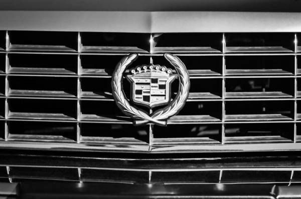 Eldorado Photograph - 1994 Cadillac Eldorado Emblem -0783bw by Jill Reger