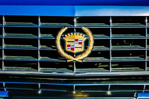 Eldorado Photograph - 1994 Cadillac Eldorado Emblem -0783c by Jill Reger