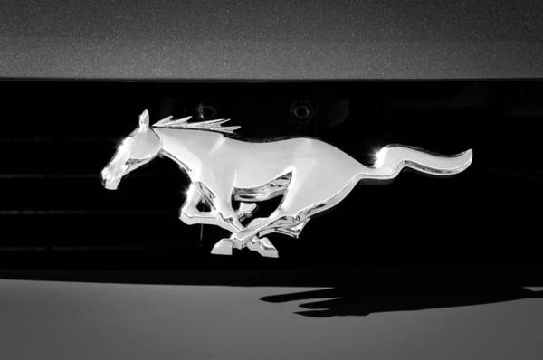 Ford Mustang Photograph - 1994 Ford Mustang Cobra Custom Convertible Emblem by Jill Reger