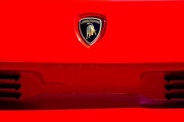 Photograph - 1994 Lamborghini Diablo Coupe Se30 Emblem by Jill Reger
