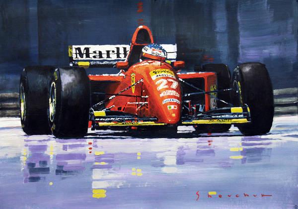 Wall Art - Painting - 1995 Canada Gp Ferrari 412t2 J.alesi #27 Winner  by Yuriy Shevchuk