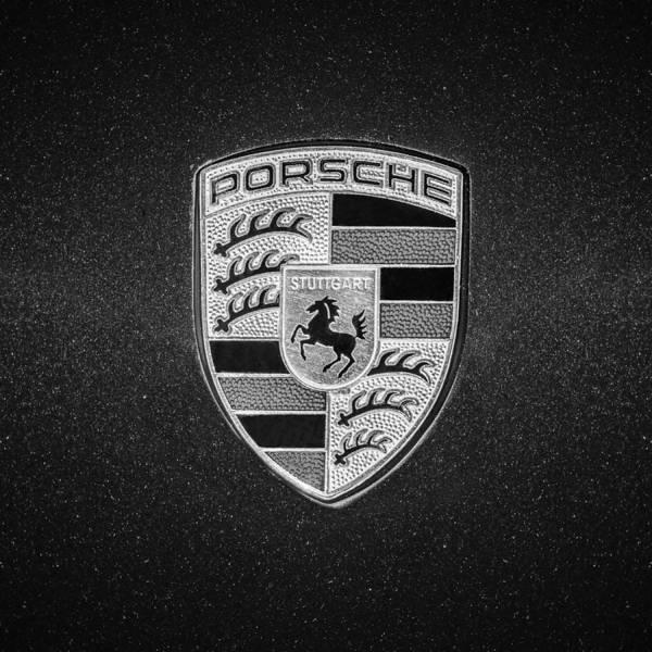 Wall Art - Photograph - 1996 Porsche 911 Emblem -0800bw55 by Jill Reger