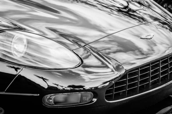 Photograph - 1997 Aston Martin -0430bw by Jill Reger