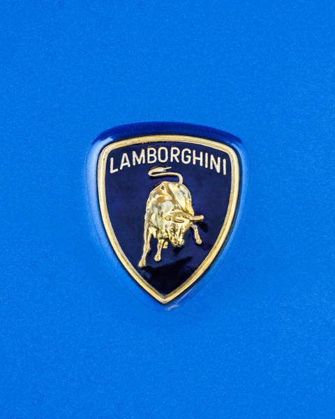 Photograph - 1997 Lamborghini Diablo Roadster Emblem -0209dcc by Jill Reger