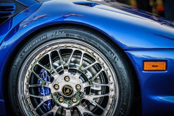 Photograph - 1997 Lamborghini Diablo Roadster Wheel Emblem 01288c by Jill Reger