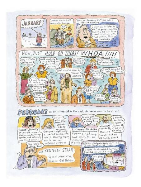 Affair Drawing - 1998: A Look Back by Roz Chast