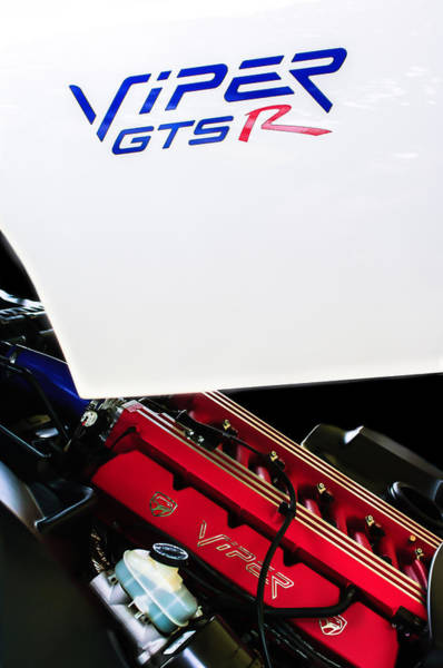 Photograph - 1998 Dodge Viper Gts-r Engine by Jill Reger