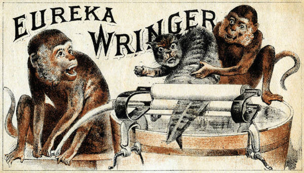 Eureka Painting - 19th C. Eureka Wringer by Historic Image