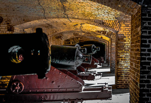 Beauregard Photograph - 19th Century Cannon Line by Optical Playground By MP Ray