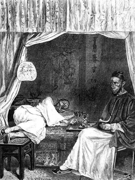 19th Century Chinese Opium Smokers Art Print
