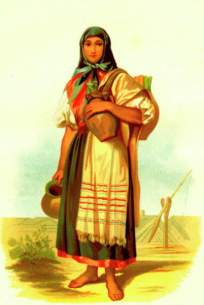 Wall Art - Photograph - 19th Century Hungarian Woman by Collection Abecasis/science Photo Library