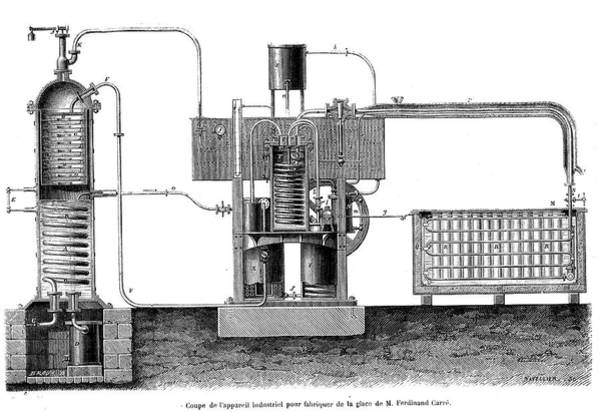 Ferdinand Photograph - 19th Century Ice-making Machine by Collection Abecasis/science Photo Library