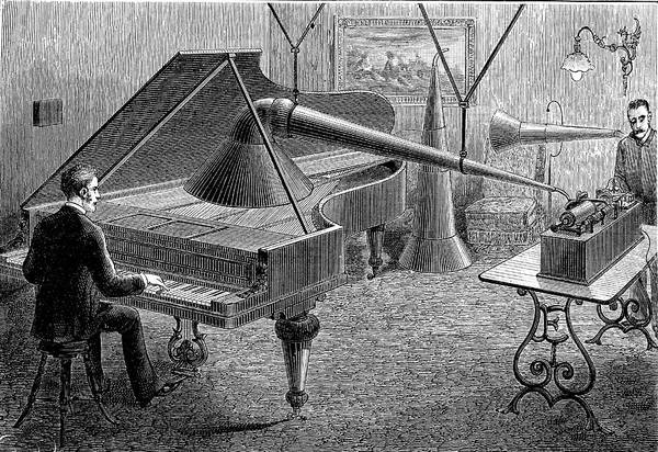 Player Piano Photograph - 19th Century Music Recording by Collection Abecasis/science Photo Library