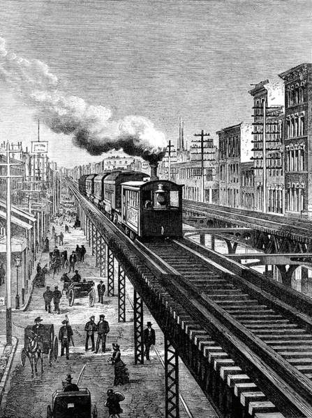 19th Century New York City Elevated Railway Art Print