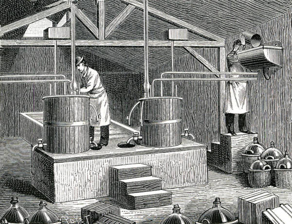 1889 Photograph - 19th Century Nitroglycerine Laboratory by Collection Abecasis/science Photo Library
