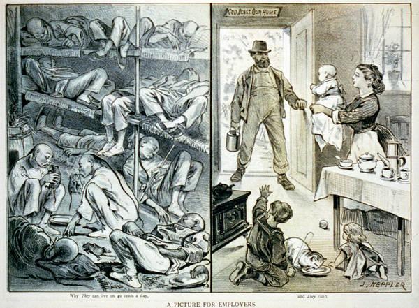19th-century Opium Den Caricature Art Print