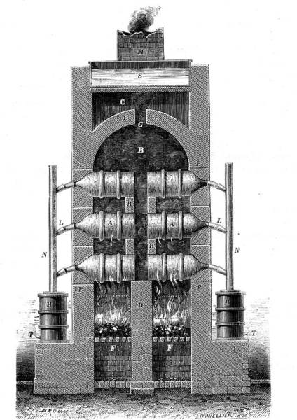 Cutout Wall Art - Photograph - 19th Century Phosphorous Oven by Collection Abecasis/science Photo Library
