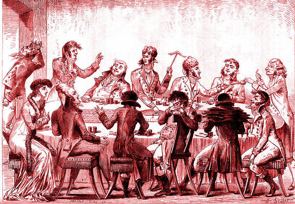Parody Photograph - 19th Century Roulette Players by Collection Abecasis/science Photo Library
