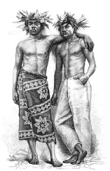 1800s Wall Art - Photograph - 19th Century Tahitian People by Collection Abecasis