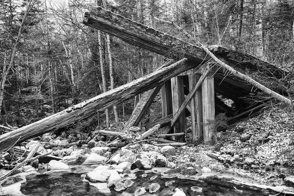 Photograph - 19th Century Timber Bridge - Boston And Maine Railroad New Hampshire Usa by Erin Paul Donovan