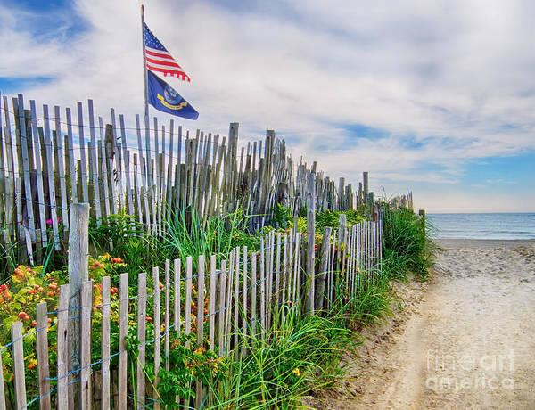 Photograph - 19th Street Beach Entrance by Mark Miller