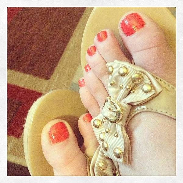 Spring Photograph - 1st Pedicure Of #spring #2013 by Melissa Wyatt
