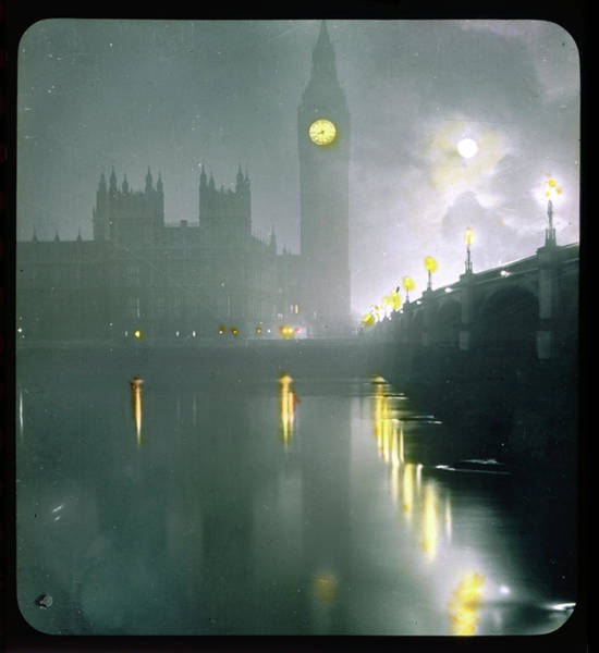 Wall Art - Photograph -  Big Ben And Parliament  Buildings by Mary Evans Picture Library