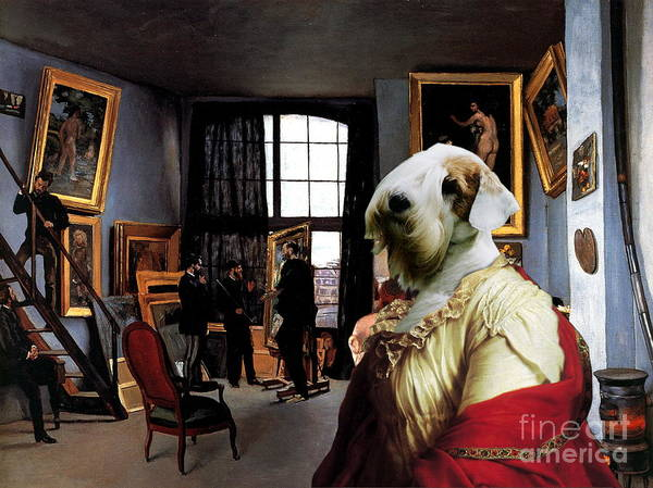Sealyham Terrier Painting -  Sealyham Terrier Art Canvas Print  by Sandra Sij