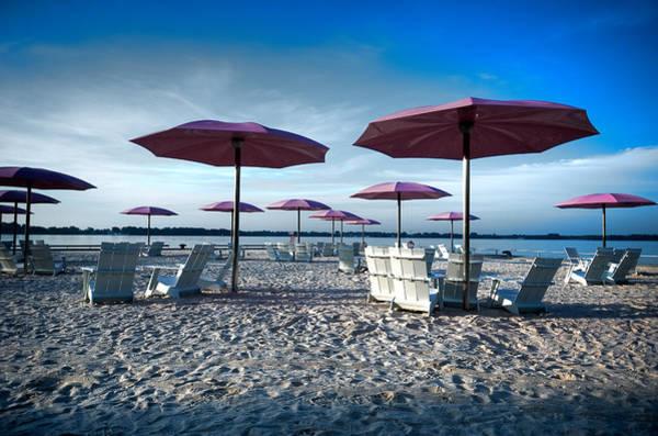 Photograph -  Umbrellas On The Beach by Joseph Amaral