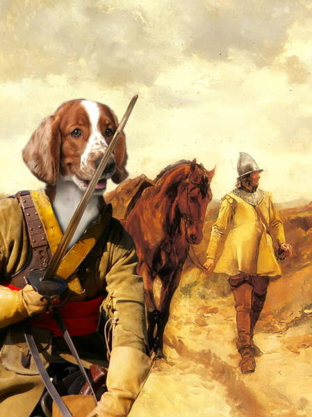 Welsh Springer Spaniel Painting -  Welsh Springer Spaniel Art Canvas Print by Sandra Sij