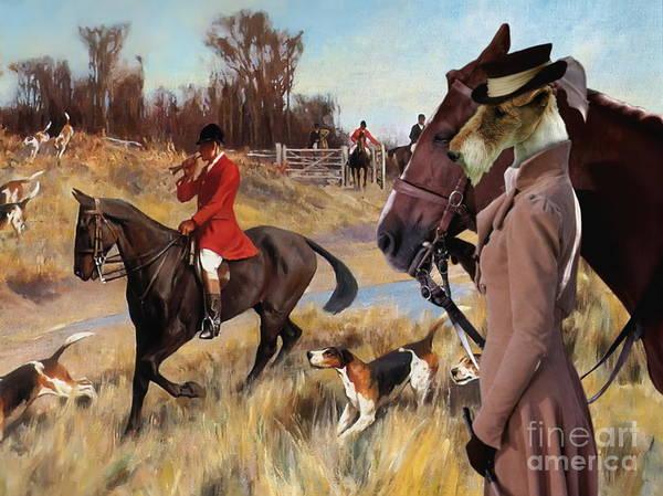 Fox Terrier Wall Art - Painting -  Wire Fox Terrier Art Canvas Print by Sandra Sij
