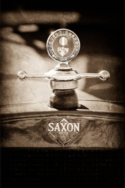 1915 Photograph - 1915 Saxon Roadster Hood Ornament by Jill Reger