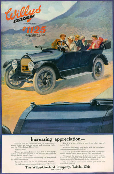 Wall Art - Photograph - 1920s Usa Willys-overland Magazine by The Advertising Archives
