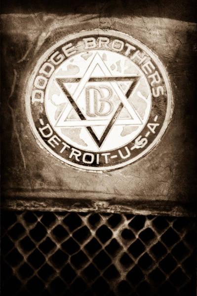 Depot Photograph - 1923 Dodge Brothers Depot Hack Emblem by Jill Reger
