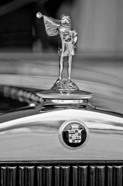 1929 Photograph - 1929 Cadillac 1183 Dual Cowl Phaeton Hood Ornament by Jill Reger