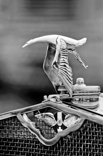 Photograph - 1930 Hispano-suiza H6c Kellner Transformable Hood Ornament by Jill Reger