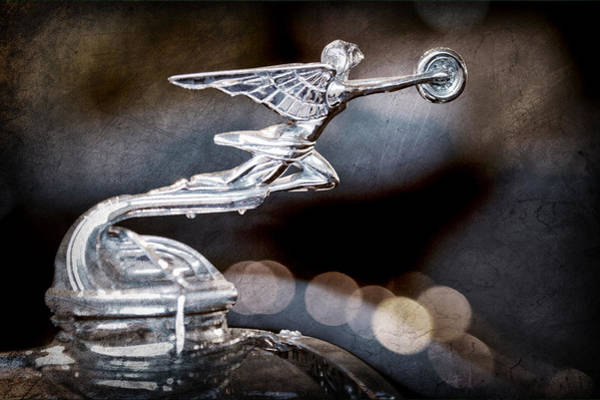 Wall Art - Photograph - 1930 Packard Model 733 Convertible Coupe Hood Ornament by Jill Reger