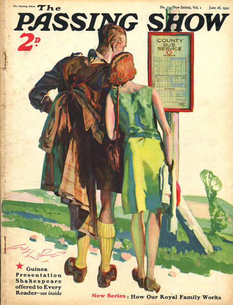Hiking Drawing - 1930s,uk,passing Show,magazine Cover by The Advertising Archives