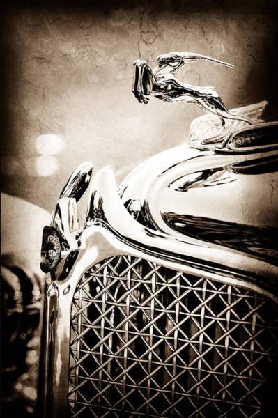 Photograph - 1931 Chrysler Cg Imperial Dual Cowl Phaeton Hood Ornament - Grille by Jill Reger