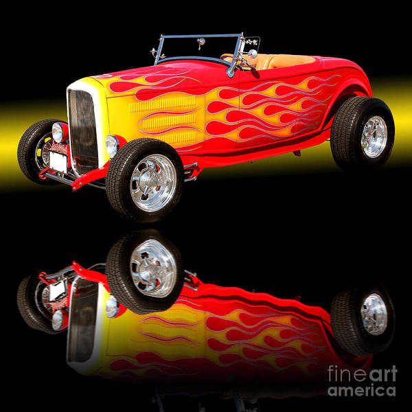 Wall Art - Photograph - 1932 Ford V8 Hotrod by Jim Carrell