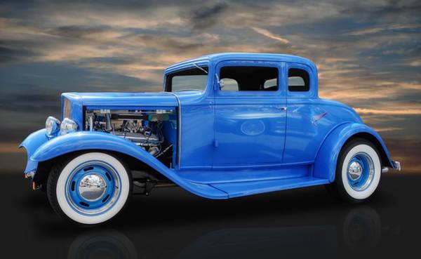 Street Rods Photograph - 1932 Pontiac 5 Window Coupe by Frank J Benz