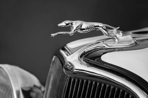 Photograph - 1933 Ford Hood Ornament - Grille Emblem by Jill Reger