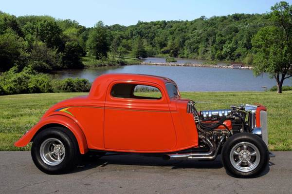 Photograph - 1934 Ford 3 Widow Coupe Hot Rod by Tim McCullough