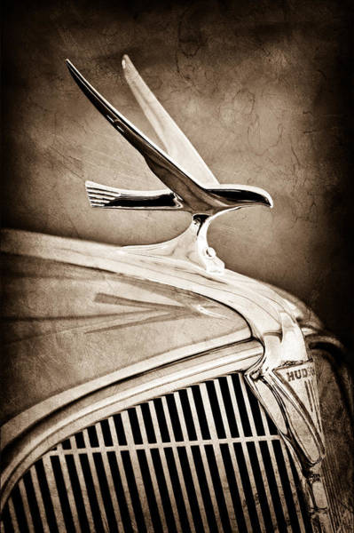 Touring Photograph - 1935 Hudson Touring Sedan Hood Ornament by Jill Reger