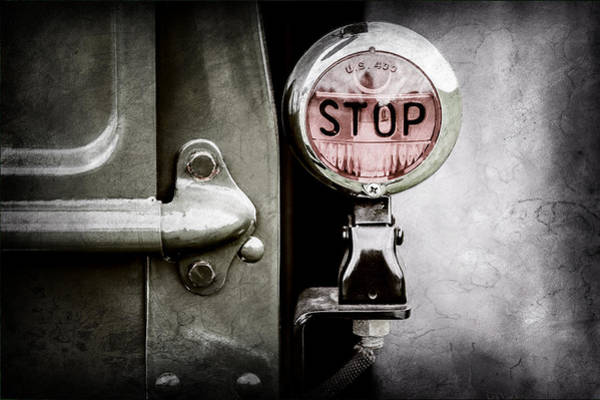 Stop Light Photograph - 1937 Ford Pickup Truck Taillight by Jill Reger