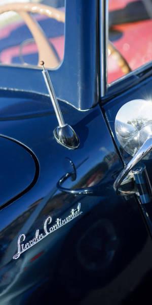 Photograph - 1941 Lincoln Continental Convertible Emblem by Jill Reger