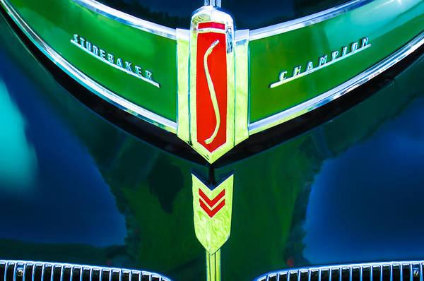 Photograph - 1941 Studebaker Grille Emblem by Jill Reger