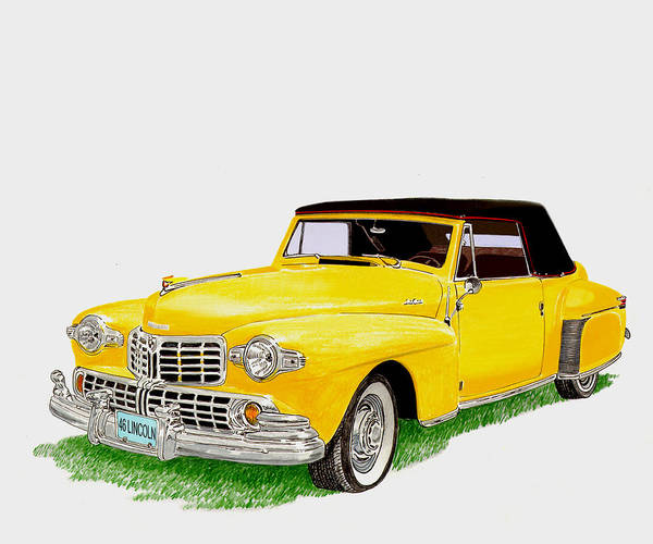 Similar Painting - 1946 Lincoln Continental Mk I by Jack Pumphrey