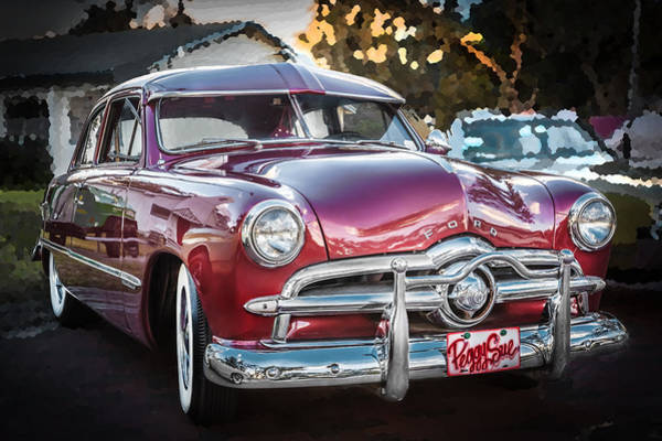 Dual Exhaust Photograph - 1949 Ford 2 Door Custom  by Rich Franco